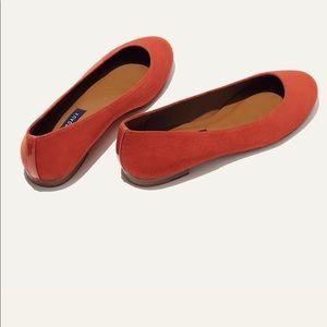 "Margaux ""the classic"" orange suede flat"